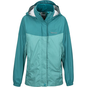 Marmot Girls PreCip Jacket Teal Tide/Malachite